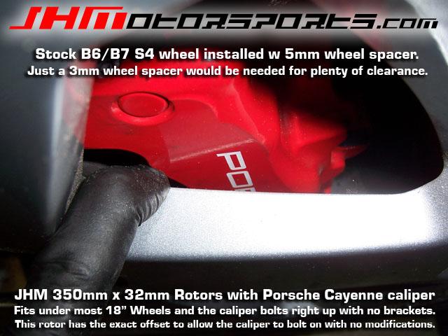 Audi Front Rotors JHM 350mm, Cayenne Caliper C5/A6/S6