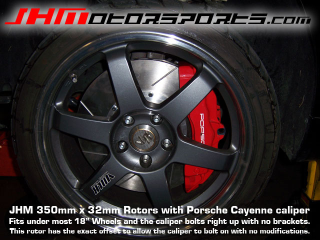 Audi Front Rotors(pair) 350mm for Cayenne Caliper on B5 S4