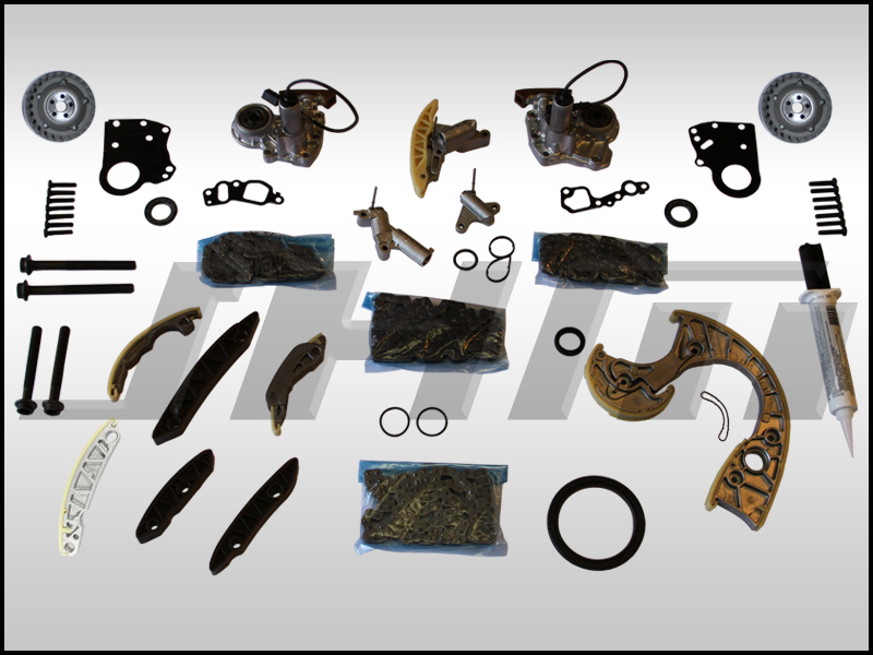 JHM Timing Chain Service Kit (JHM-OEM) for B6-B7 S4, C6 A6 and C5 allroad w  chain 4 2L 40v - FULL PLUS