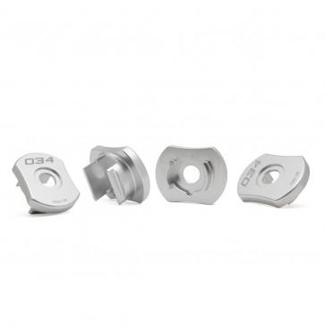 Billet Aluminum MQB Rear Subframe Mount Inserts, 8V Audi A3/S3 Quattro, MkIII Audi TT/TTS Quattro, & MkVII Volkswagen Golf R