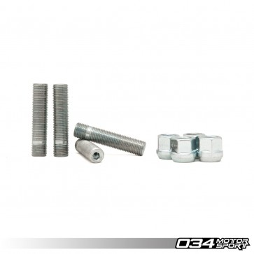 WHEEL STUD AND NUT KIT, M14X1.5, R13 BALL SEAT, AUDI/VOLKSWAGEN (set of 4) - 2.5 inches LONG