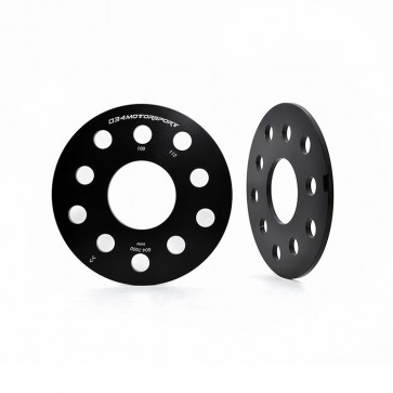 Wheel Spacer Pair, 5mm, Audi/Volkswagen 5x112mm & 5x100mm with 57.1mm Center Bore