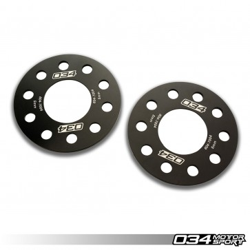WHEEL SPACER PAIR (034Motorsport), 5MM, AUDI 5X112MM WITH 66.5MM CENTER BORE