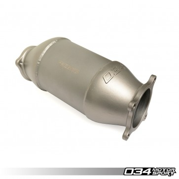 CAST STAINLESS STEEL RACING CATALYST (034Motorsport), B9 AUDI A4/A5 & ALLROAD 2.0 TFSI