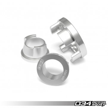 BILLET ALUMINUM REAR DIFFERENTIAL MOUNT INSERT KIT (034Motorsport), B9 AUDI A4/S4 & ALLROAD