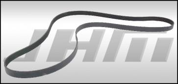 Supercharger Belt (Continental) - STOCK Blower Pulley & 207mm Crank pulley for B8-B8.5, S4-S5, C6 A6, C7 A6-A7, Q7 and B8 Q5-SQ5 3.0T FSI