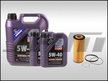 Oil Change Kit (JHM) Liqui-Moly (5w40) for C5 A6, B7 A4 3.2L and 3.0T B8-B8.5 S4-S5, 8R Q5-SQ5, C6-C7 A6-A7, 4L-Q7, D4-A8
