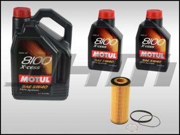 Oil Change Kit (JHM) Motul X-cess 8100 (5w40) for C5 A6, B7 A4 3.2L and 3.0T B8-B8.5 S4-S5, 8R Q5-SQ5, C6-C7 A6-A7, 4L-Q7, D4-A8