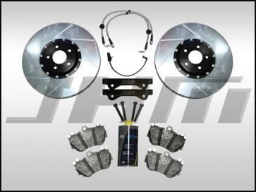 Front BBK (Big Brake Kit) JHM 382mm Porsche 19Z (Brembo 6-piston) for B8 A4-A5-S4-S5-Q5 - NO Calipers