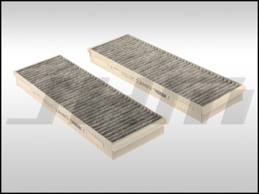 Cabin Filter Set, Activated Charcoal (Hengst) for C6 A6-S6 & R8