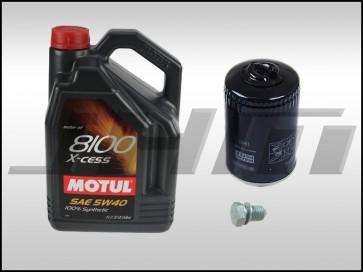 Oil Change Kit (JHM) Motul X-cess 8100 (5w40) for B6-A4 1.8T