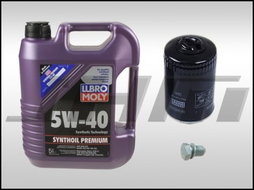 Oil Change Kit (JHM) Lubro-Moly (5w40) for B6-A4 1.8T
