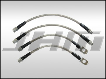 Brake Line Kit-Stainless (JHM) Front and Rear Lines for Audi A3 8P and VW EOS, Golf, Jetta MKV-MKVI