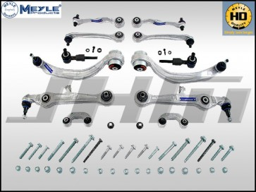 Front Control Arm-Tie Rod Kit, 12-pc (Meyle-HD) for B5-A4-S4, C5-A6 w/ Steel Uprights
