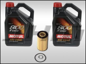 Oil Change Kit (JHM) Motul X-cess 8100 (5w40) for B6/B7 S4 and C5-allroad w chain 4.2L