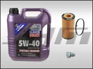 Oil Change Kit (JHM) Lubro-Moly (5w40) for B7-A4, 8P-A3, 8J-TT MK5-Golf-Jetta-EOS MkV, B6-Passat w 2.0T