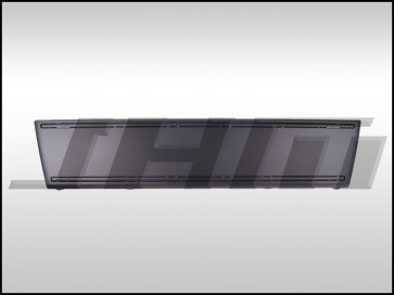 Filler Plate for Front Bumper (OEM) No License Plate Cutout, Satin Black for B7 A4-S4-RS4