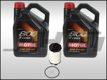 Oil Change Kit (JHM) Motul X-cess 8100 (5w40) for B7 RS4, R8, Q7, C6 A6, D3-D4 A8, B8 S5-RS5, Touareg w V8 and R8, C6 S6, D3 S8 w V10