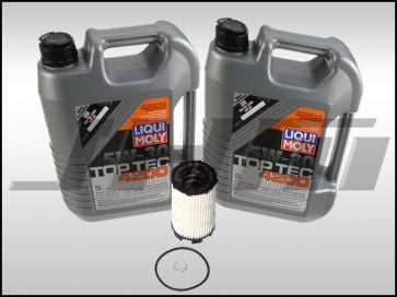Oil Change Kit (JHM) Liqui- or Lubro-Moly Top Tec (5w30) for B7 RS4, R8, Q7, C6 A6, D3-D4 A8, B8 S5-RS5, Touareg w V8 and R8, C6 S6, D3 S8 w V10