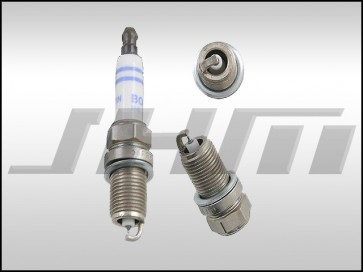 Spark plug - (Bosch-OEM) double platinum for Audi VW w 2.0t FSI, 2.0t TFSI, 2.0t TSI and Audi RS5 4.2l V8
