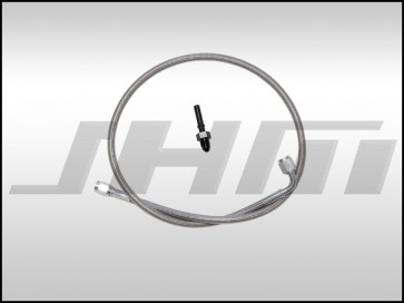 JHM Clutch Slave Line, Stainless Braided Clutch Line Kit for B5-S4, C5 A6-allroad