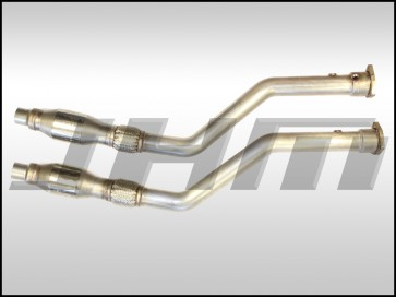 Exhaust - Downpipes - JHM B6-A4 and C5-A6 3.0L Stainless Steel, 2.5 inches w/ High-Flow Cats