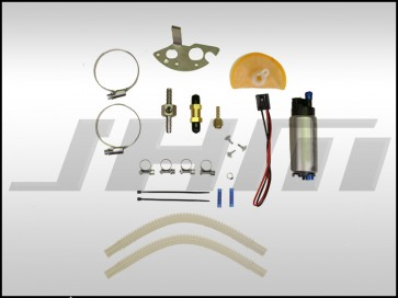 JHM Fuel Pump Upgrade Kit, High-Flow 340 LPH w/ Drop-In Adapter and hardware for B7 A4-RS4