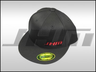 "JHM ""FlexFit Style"" Black Fit Hat, Flat Bill"