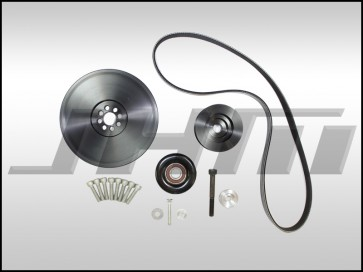 JHM Lightweight 6-Rib Crank Pulley and Alternator Belt Conversion Kit for B8-RS4-RS5 w 4.2L FSI (32v)