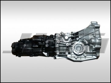 Transmission - Rebuilt core exchange - 01E - EDU trans code MT (JHM) for B5-S4, C5-A6 2.7t w/ JHM Collar, Synchros & NEW JHM 2nd, 3rd and 4th gear