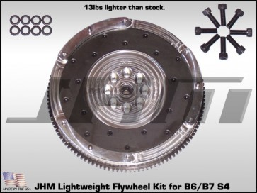 JHM Lightweight Aluminum Flywheel for (fits B6 S4 as an upgrade and must use B7 clutch) 05.5 and up B7 S4