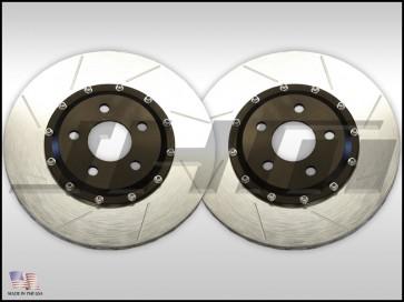 Front Rotors (pair) BBK -JHM 350mm for Cayenne Caliper (Brembo 6 piston 18z) on MK 5-6 VW Golf, GTI, R32, Jetta