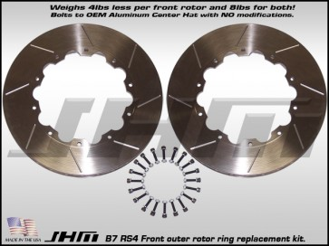 Front Rotor Rings(pair)- JHM Lightweight for B7 RS4