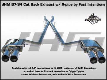"Exhaust - Cat-back - JHM B7 S4 Stainless Steel 2.5"" w X-Pipe by FI"
