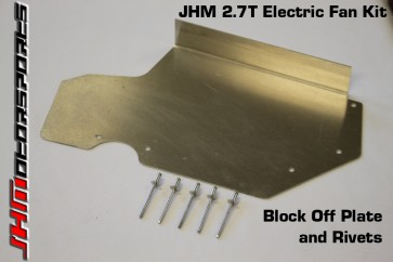 JHM Electric Fan Kit (EFK) Timing Cover Block Off Plate for B5-S4, C5 A6-allroad 2.7T
