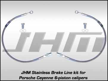 Front Stainless Brake Line Kit, Porsche Cayenne(Brembo 6-piston)