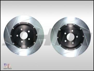 Front Rotors(pair)-JHM 2-piece Lightweight for C5 RS6