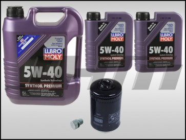 Oil Change Kit (JHM) Lubro-Moly (5w40) for 2.7t and 3.0L V6 w STOCK MANN filter