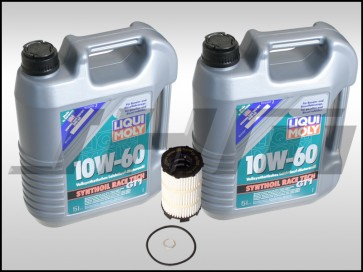 Oil Change Kit (JHM) LiquiMoly Synthoil Race Tech GT1 (10w60) for B7 RS4, R8, Q7, C6 A6, D3-D4 A8, B8 S5-RS5, Touareg w V8 and R8, C6 S6, D3 S8 w V10
