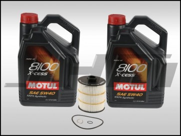 Oil Change Kit (JHM) Motul X-cess 8100 (5w40) for 4.0T C7-C7.5 S6-S7-RS7, D4-D4.5 A8-S8