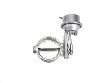 """Exhaust Flapper Vacuum Valve, Stainless Steel - 2.5"""" (64mm) Diameter, 90 degree (Vacuum Closes valve)"""