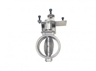 "Exhaust Flapper Valve, Stainless Steel - 2.5"" (64mm) Diameter for OE Audi or Mercedes Electric Motor (Motor NOT included)"
