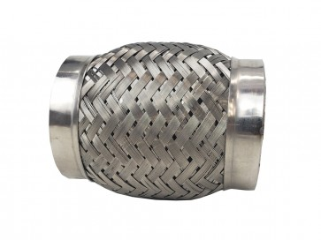"Flex Coupling w/ Interlock Liner (ESP) Stainless Steel Flexible Coupler, 2.5"" or 64mm I.D. x 4"" Long"