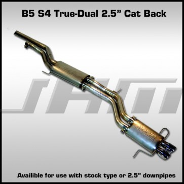 Exhaust - Cat-Back - JHM Stainless Steel True Dual 2.5 inch System for B5 S4