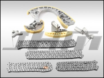 JHM ALL CHAINS and TENSIONERS for Timing Chain Service Kit (OEM) for B6-B7 S4, C6 A6 and C5 allroad w chain 4.2L 40v