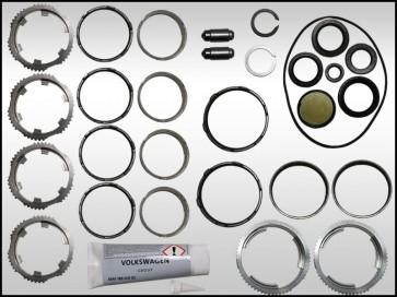 Transmission Rebuild Kit, Complete 0B4 MT (JHM Performance-OEM),  Seals and Synchros