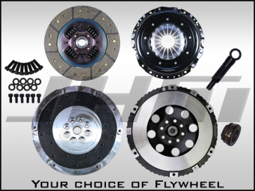 JHM R Series Lightweight Flywheel (Chrome-Moly Forged) and Clutch Combo for B5-S4, C5 A6-allroad w 2.7T