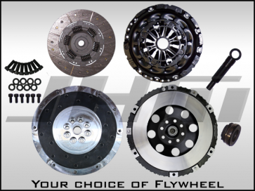 JHM Lightweight Flywheel (Chrome-Moly Forged) and Clutch Combo w B7 RS4 Pressure Plate for B5-S4 or C5-A6-allroad 2.7T