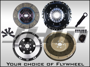 JHM R Series Lightweight Flywheel (Chrome-Moly Forged) and Clutch Combo for B7-A4 2.0T