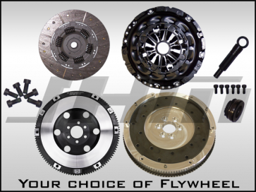 JHM Lightweight Flywheel (Chrome-Moly Forged or Aluminum) and Clutch Combo w B7 RS4 Pressure Plate for B7-A4 2.0T
